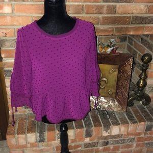 NWT sheer blouse size large